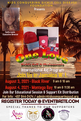 Aug. 3rd & 4th - One Love Sickle Cell &