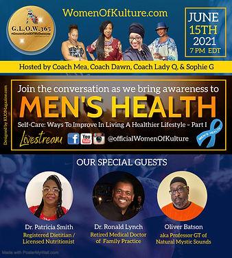 June 15th 2021 - Glow Show on Mens Healt