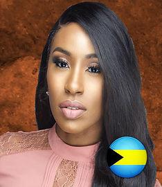 Nyesha Carey - Bahamas Honoree with Flag