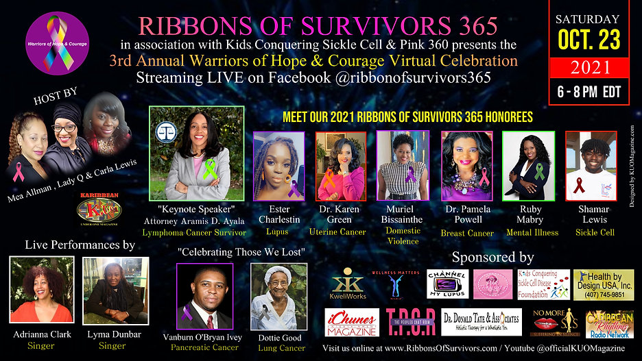 KUOMagazine Ribbons of Survivors 365 3rd Annual Warriors of Hope & Courage Virtual Celebra