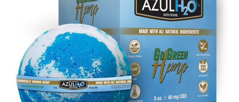 GoGreen Hemp CBD Bath Bombs Azul H20 40mg