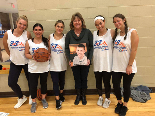 Some of our sorority girls at a 3 vs 3 tournament in Brandon's memory.