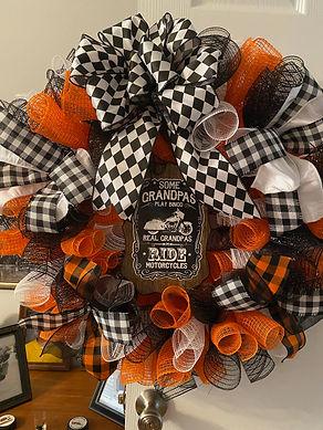 """Grandpa"" Harley Davidson Wreath"