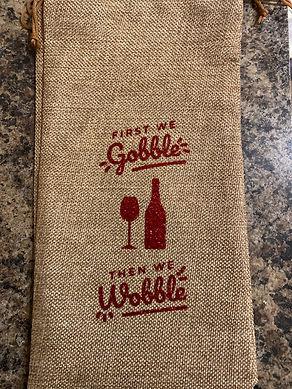 'Gobble/Wobble' Wine Bottle Bag