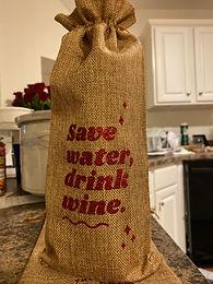 'Water & Wine' Wine Bottle Bag