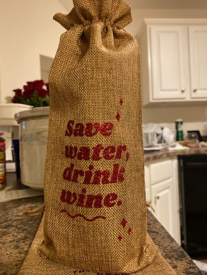 'Water & Wine' Wine Bottle Bag