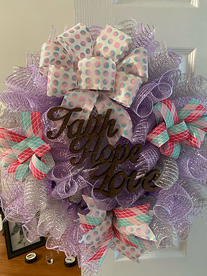 Faith Hope Love Wreath