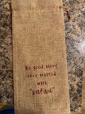 'Salad' Wine Bottle Bag