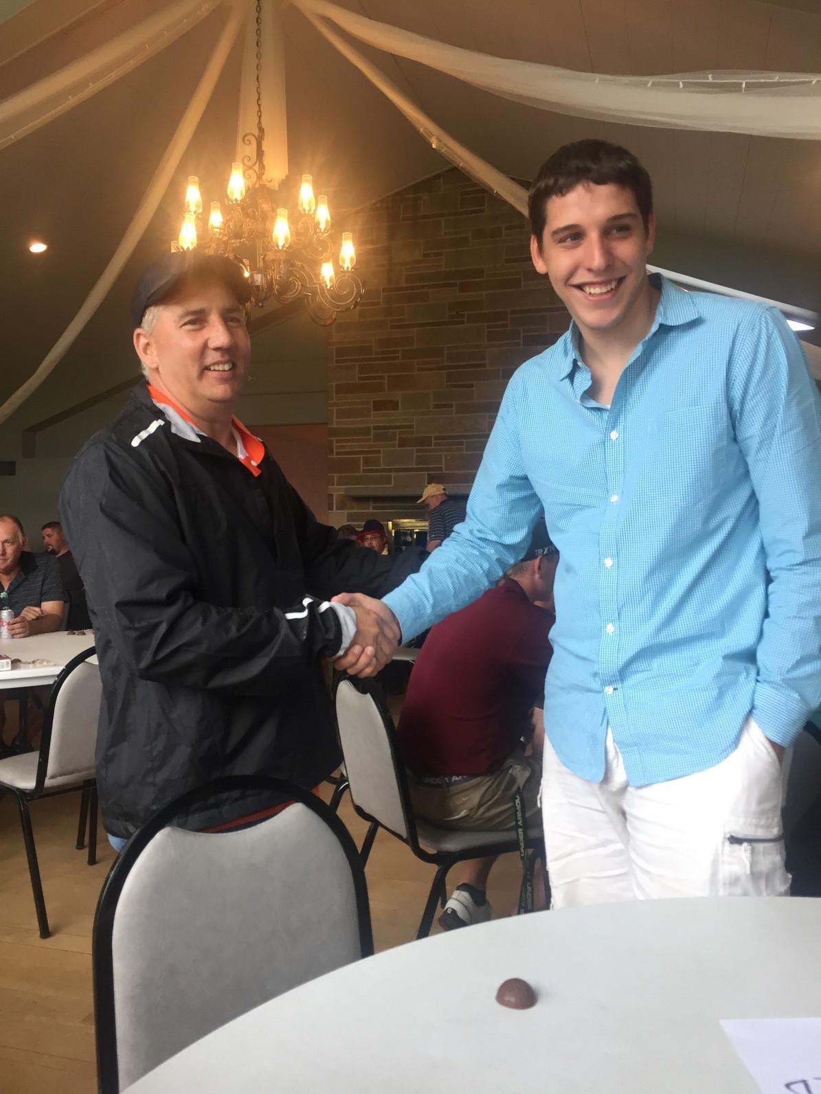 Brandon's dad meets bone marrow donor.