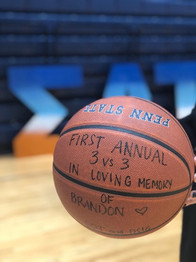 PSU sorority and fraternity that adopted us as a THON family holds a 3 vs 3 tournament each year in Brandon's memory