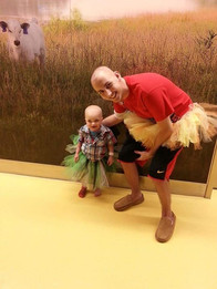 Brandon and another pediatric cancer patient on Tutu Tuesday at the children's hospital!