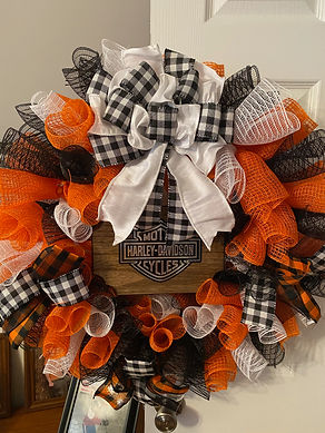 Harley Davidson Plaque Wreath