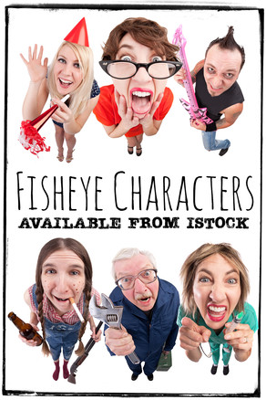 Fisheye Characters Available from iStock!