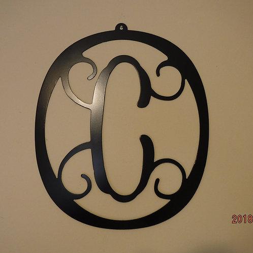 Letter C Monogrammed Wreath