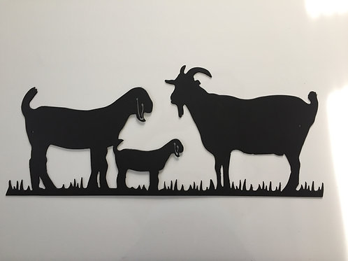 Three Goats Grazing!