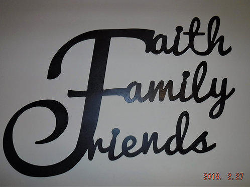 Faith, Family & Friends Wall Hanging (Small)