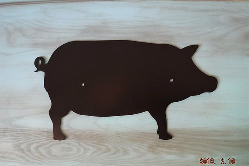 Pig Wall Silhouette