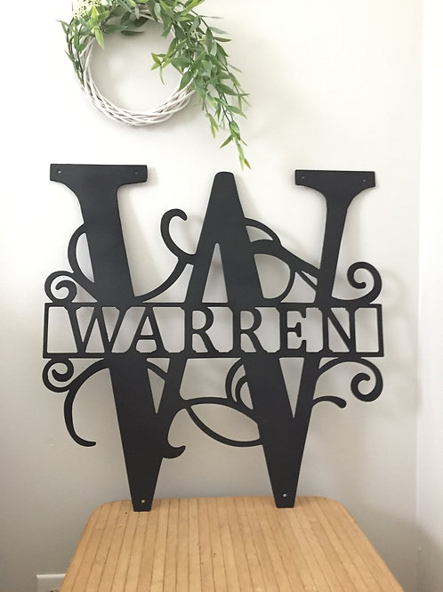 Personalize Split Letter/Name Sign