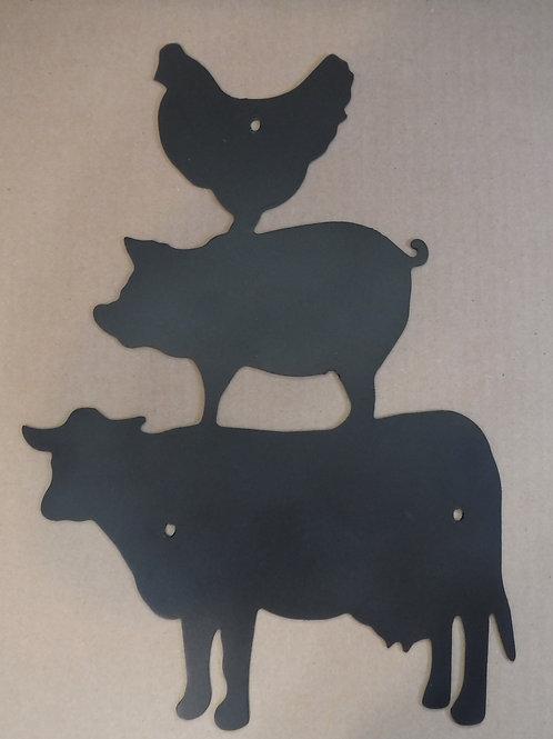 Cow, Pig, Hen
