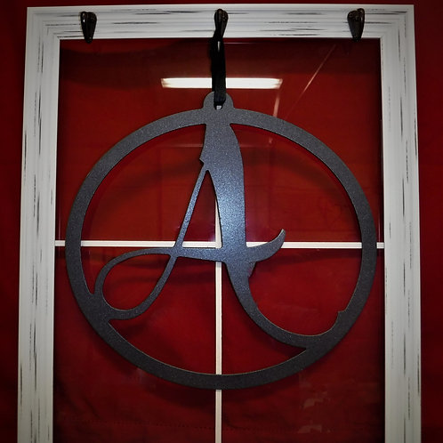 Letter A Monogrammed Wreath