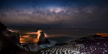 Milky way over Gannets by Twingle Mathali