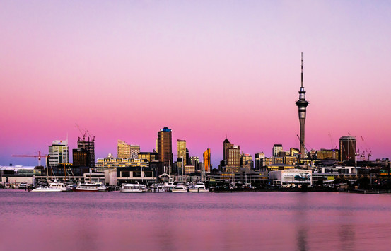 Cityscape in Pink by Paula Cagney