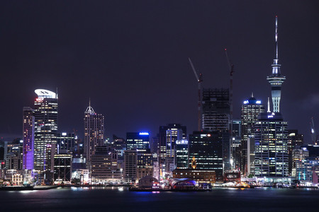 Auckland City Nightscape by Kathryn Nobbs