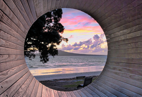 Takapuna Beach Hamster Wheel by Simon Wills