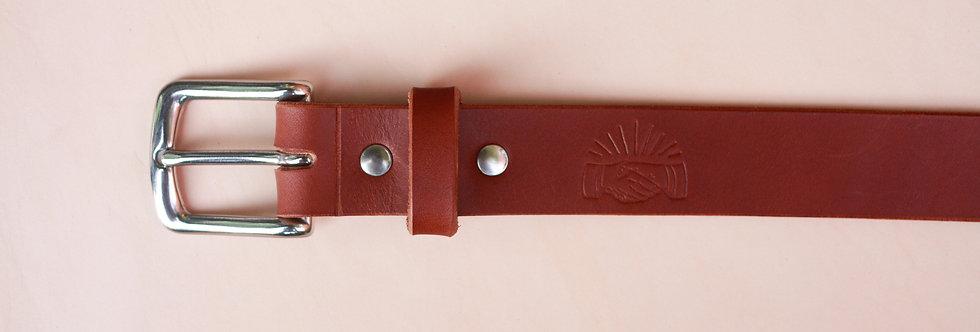 The Belt. Cognac Vegetable Tanned