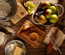 Herstellung von Apfelkuchen