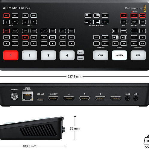 Blackmagic Atem Mini Pro ISO HDMI Switcher