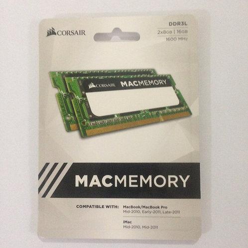 Corsair MacMemory 16gb (2x8gb) 1600mhz Ddr3l Macbook iMac