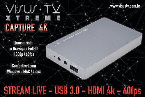 Captura de Vídeo Visus Xtreme Capture 4K - USB 3.0 HDMI HD