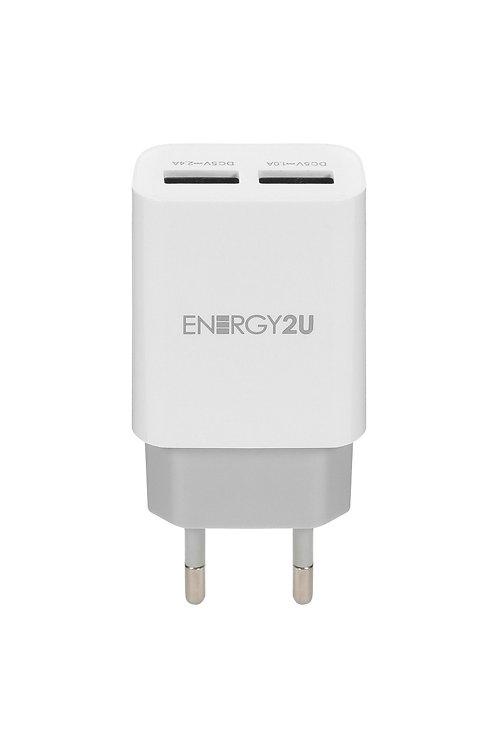 Carregador De Parede Quick Charge 3.0 Energy2u -2 Portas Usb