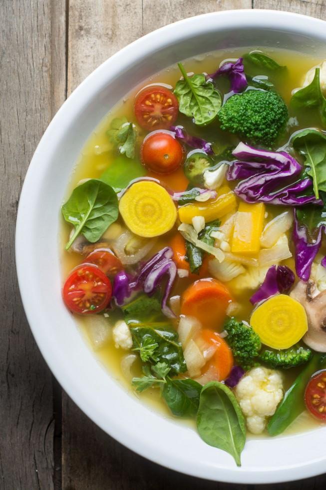 detox soup in a bowl