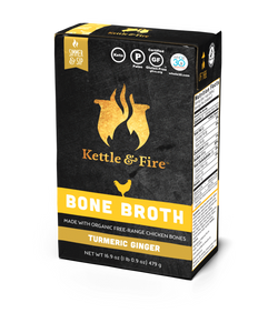Kettle and Fire Bone Broth with Turmeric and ginger