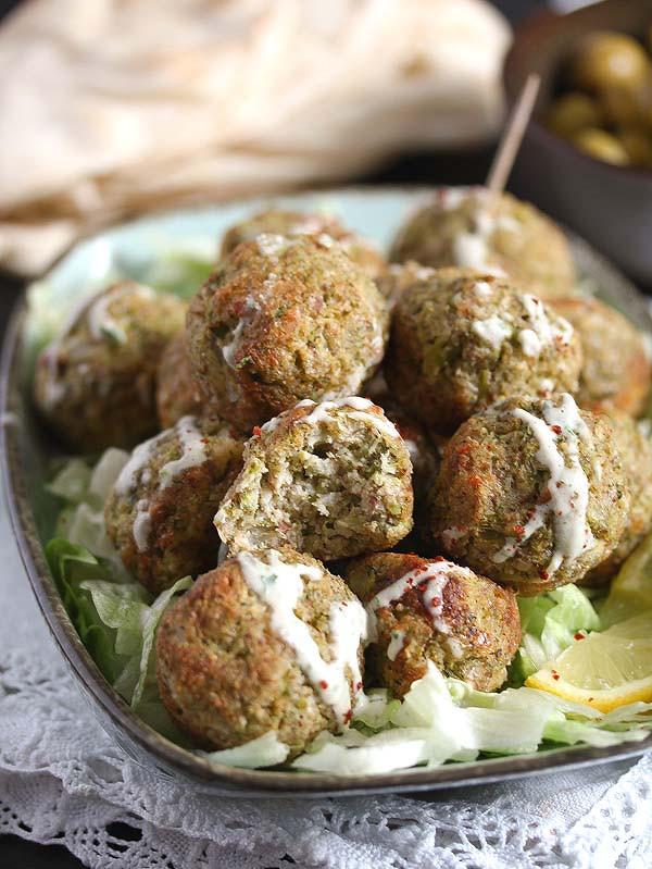 broccoli cauliflower meatballs for a meatless Monday recipe