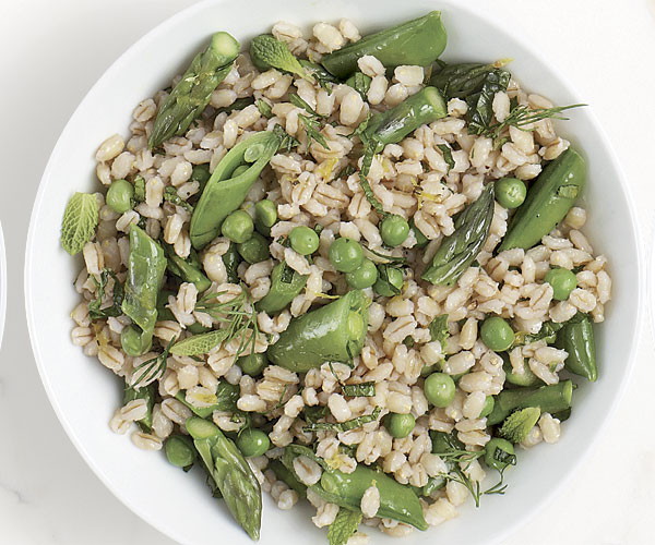 barley asparagus and pea salad for lunch or dinner