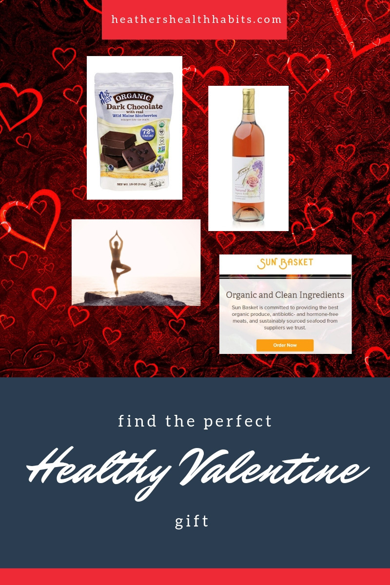 valentine gift guide with dark chocolate organic wine yoga and organic meal delivery