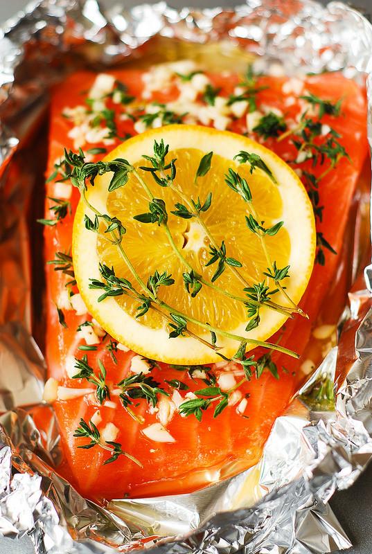 orange rosemary thyme salmon