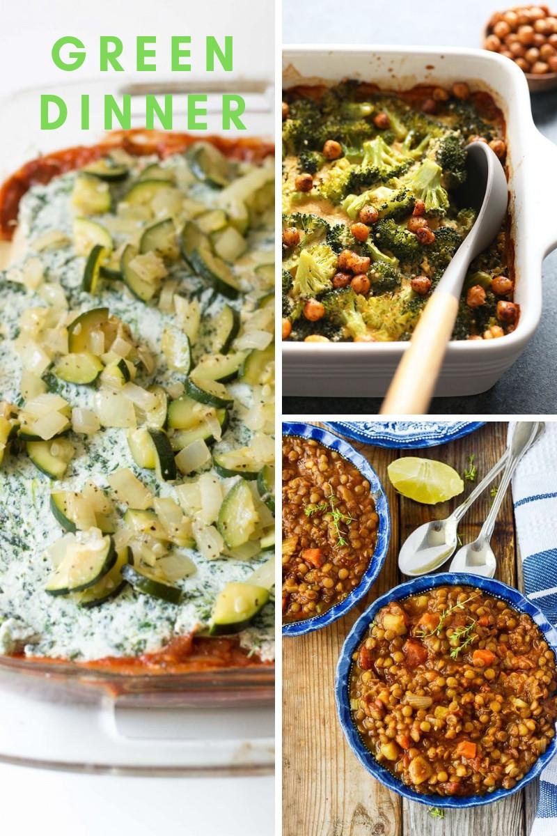 vegetable lasagna broccoli casserol and lentil kale stew dinner recipes