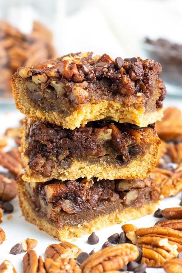 chocolate pecan pie bars gluten free dairy free
