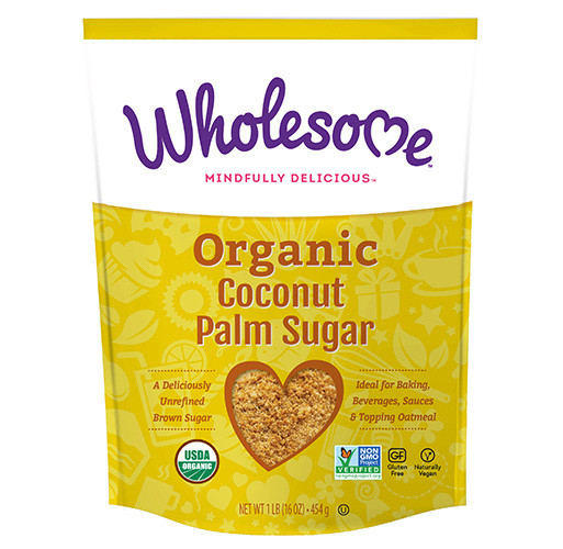 coconut palm sugar is a healthy alternative for use in baked goods
