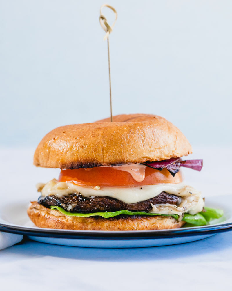 Portobello mushrooms make great burgers when you want to have more vegetables