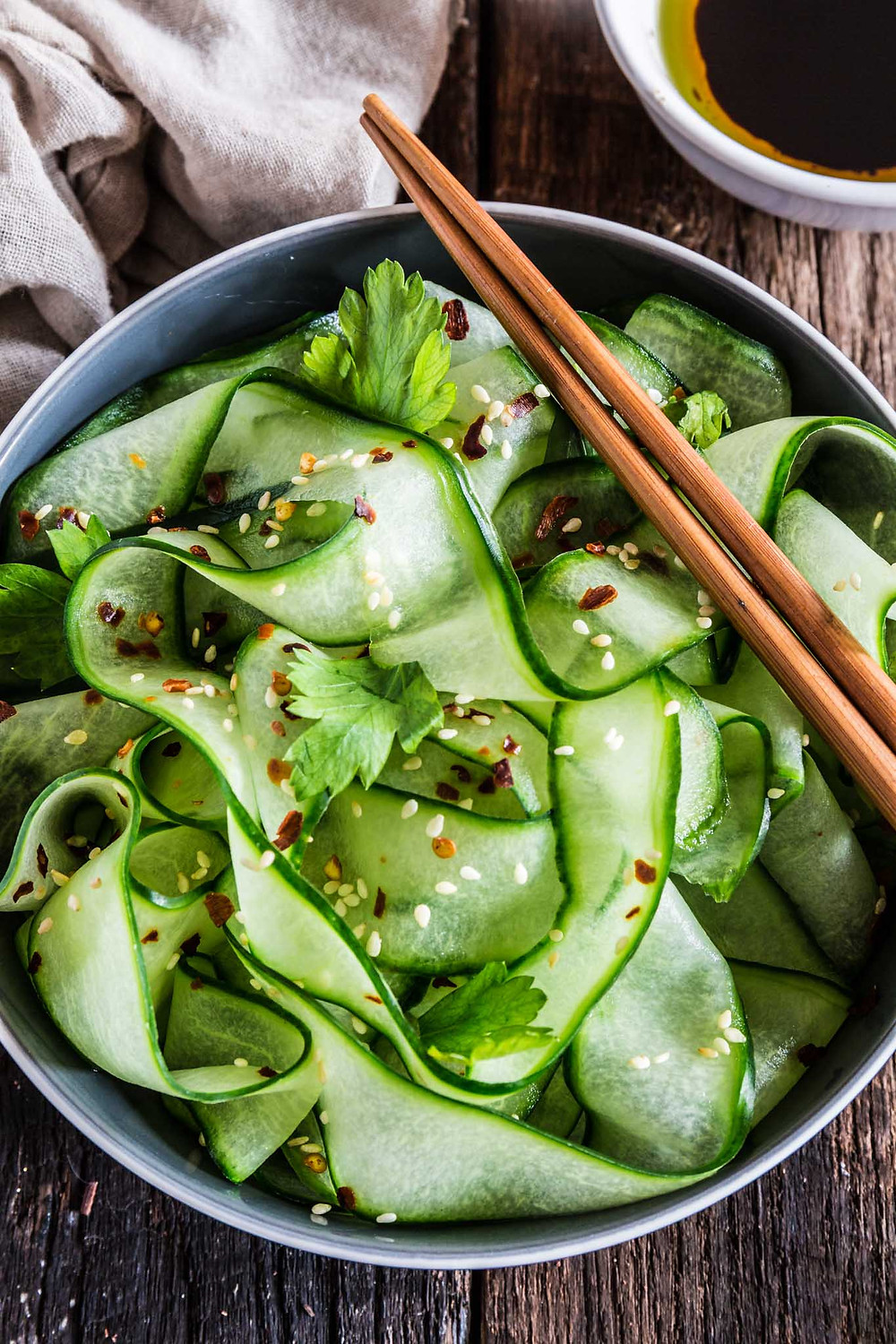 thai cucumber salad is a great way to make cucumbers taste a little different