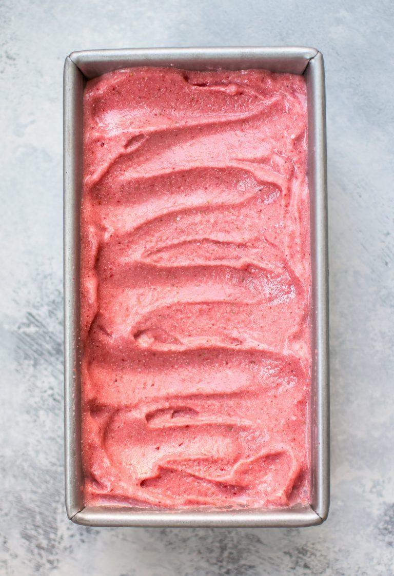 vegan strawberry ice cream is a healthy treat