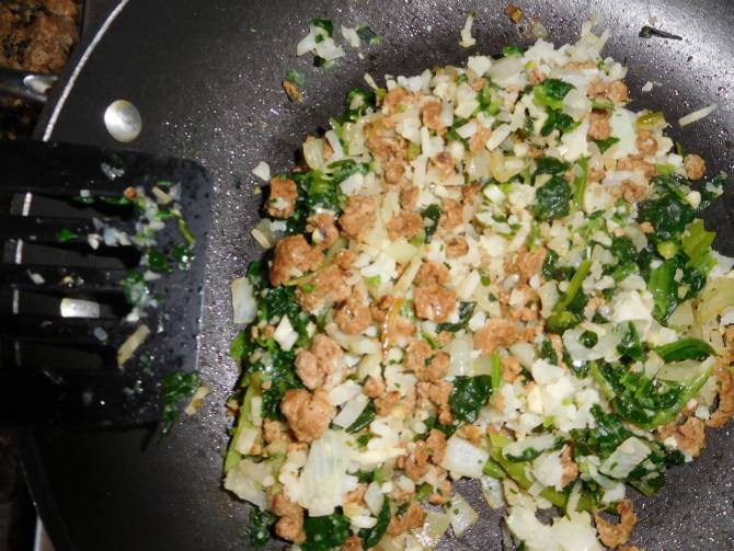 spinach cauliflower