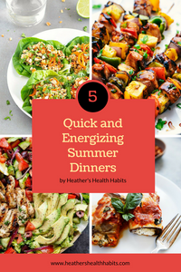 5 summer dinners with pictures of the recipes