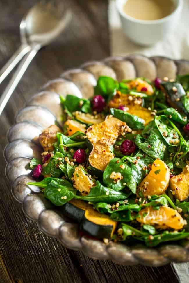 roasted acorn squash quinoa salad