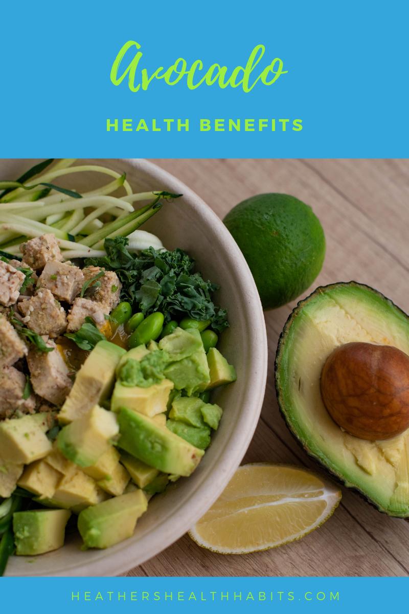 avocado and a bowl of salad